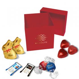 Boite Luxe Carrée - Personnalisée avec chocolats Lindt