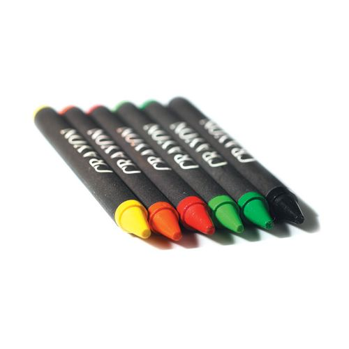 Etui 6 crayons cire