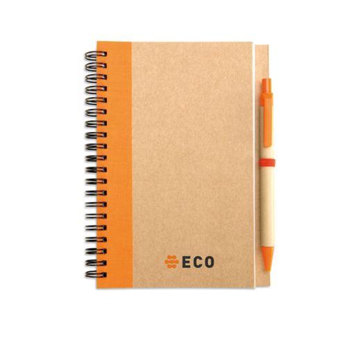 Bloc-notes recyclé et stylo - ISOCOM - OBJETS ET TEXTILES PERSONNALISES - NANTES
