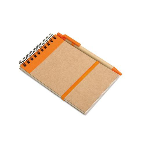 Bloc-notes recyclé et stylo