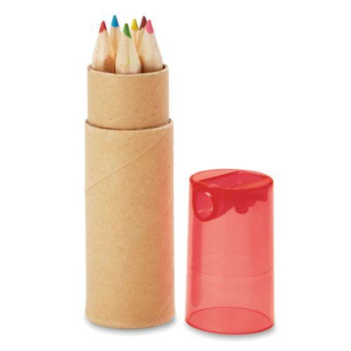 PETIT LAMBUT Tube de 6 crayons couleur