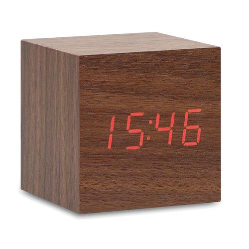 Horloge LED en MDF