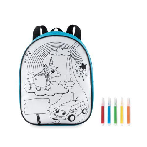 Sac à dos à colorier en 600D SOBELPU SPRL objet publicitaire personnalisable Belgique