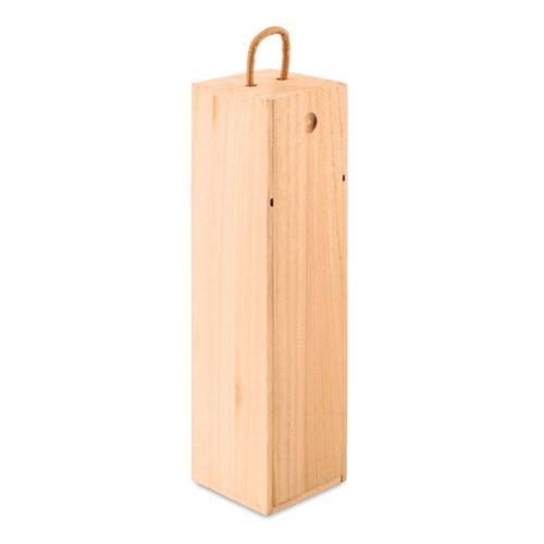 Coffret bouteille en bois