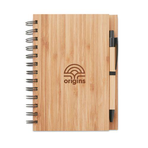 Bloco de notas de bambu brindes LISBOA