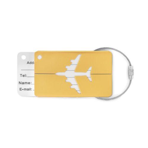 Etiquette à bagage en aluminium - ISOCOM - OBJETS ET TEXTILES PERSONNALISES - NANTES