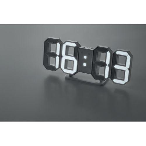 Horloge LED avec adaptateur secteu
