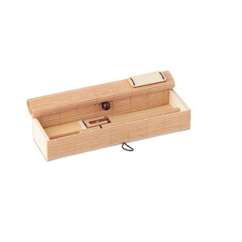 Set d'écriture en bambou