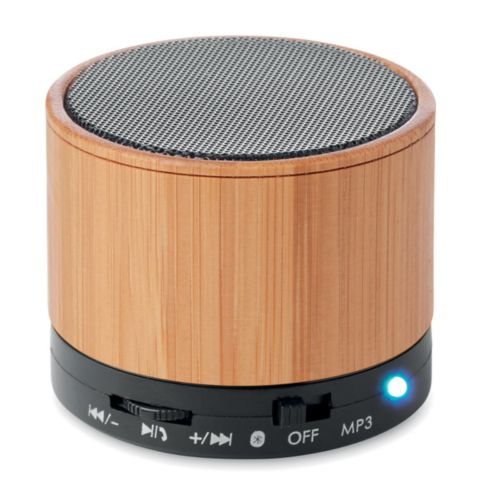 ROUND BAMBOO Haut-parleur sans fil bambou