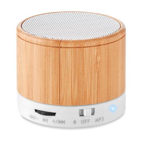 Haut-parleur sans fil bambou