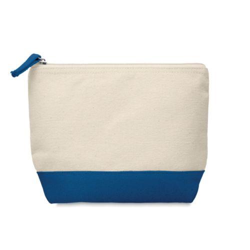 Trousse en coton bicolore