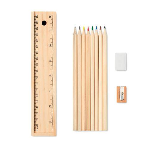 Set de 12 crayons en bois