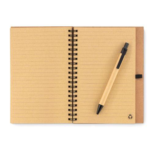 Carnet en liège avec stylo