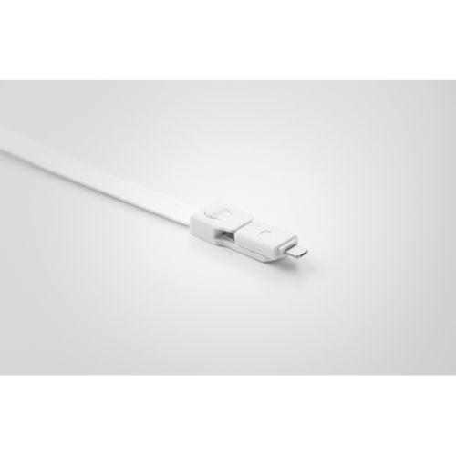 Lanyard avec câble 3 en 1 - ISOCOM - OBJETS ET TEXTILES PERSONNALISES - NANTES