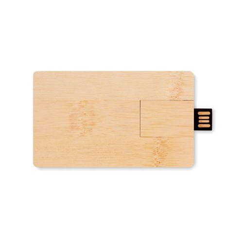 Memoria USB 16GB carcasa bambú  Regalos Promocionales personalizados para Empresas