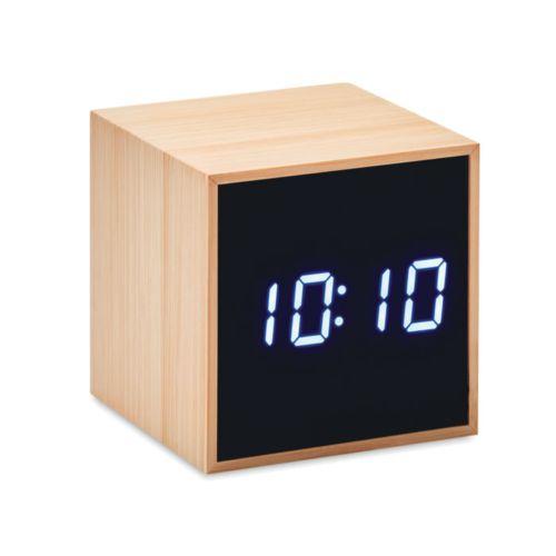MARA CLOCK Réveil LED boîtier en bambou