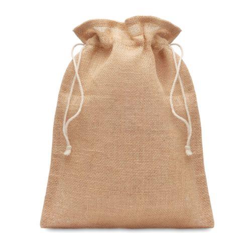 Petit sac cadeau en jute