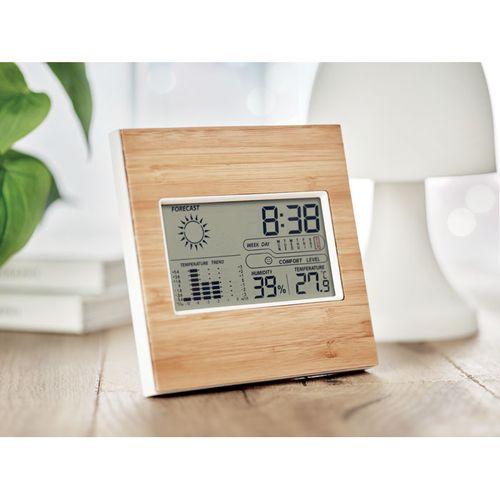 Station météo finition bambou