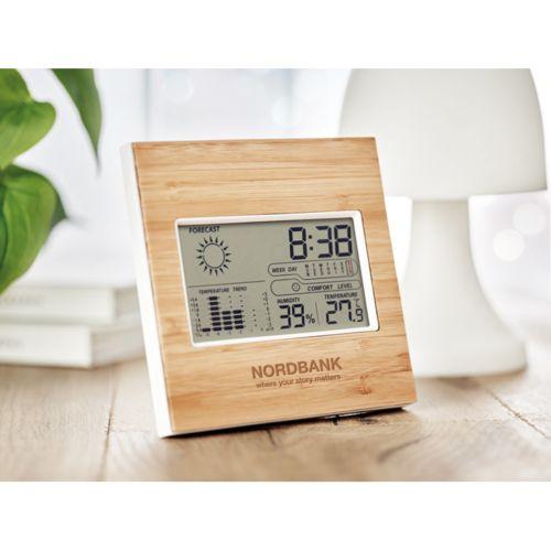 Station météo finition bambou par EG Diffusion