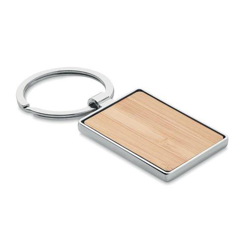Porte-clés rectangle en bambou