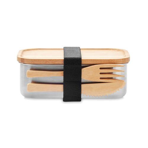 Lunch box en acier inox. 600ml publicitaire personnalisé annecy génève chambéry lyon