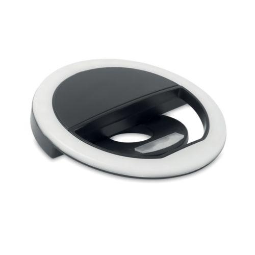 Portable selfie ring light