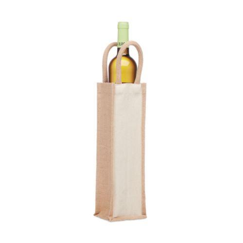 CAMPO DI VINO Sac en jute pour une bouteille