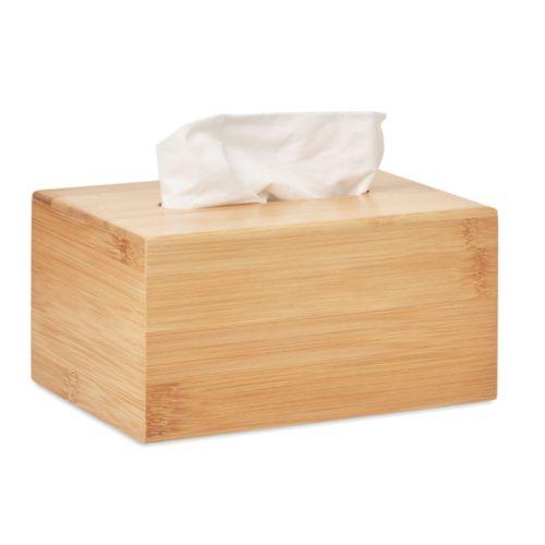 TISSBOX Boîte à mouchoirs en bambou