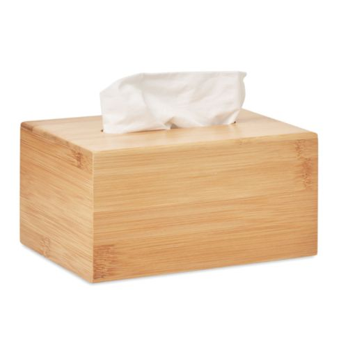 Bamboo tissue box