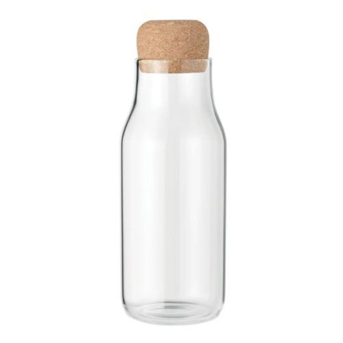 Glass bottle cork lid 600 ml