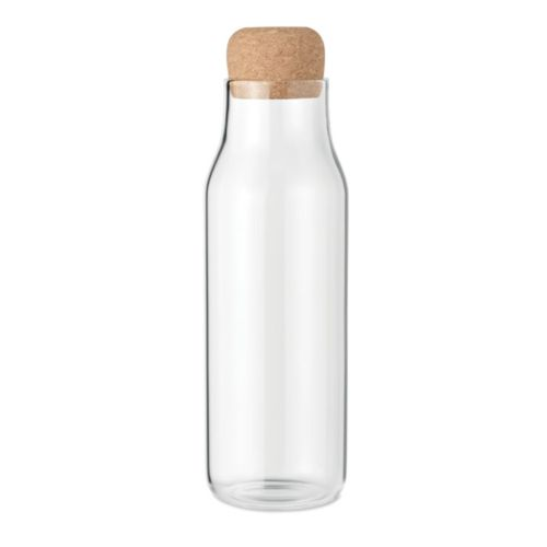 Glass bottle cork lid 1L