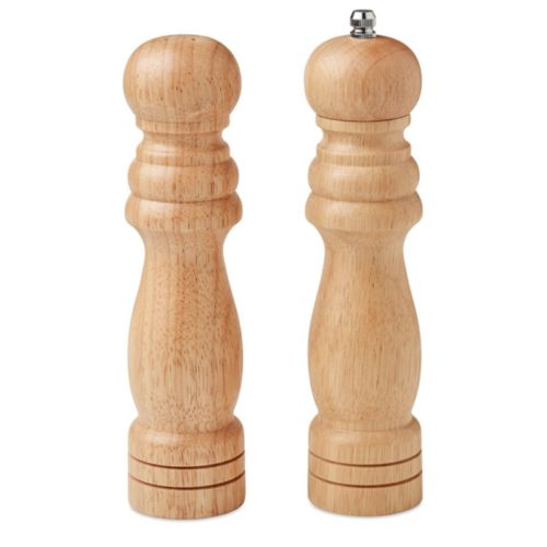 Set of 2 rubber wood grinders