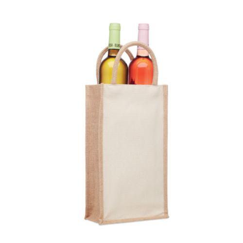 CAMPO DI VINO DUO Sac en jute pour 2 bouteilles
