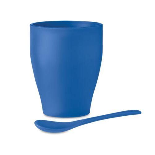 Tasse avec cuillère 300 ml - ISOCOM - OBJETS ET TEXTILES PERSONNALISES - NANTES