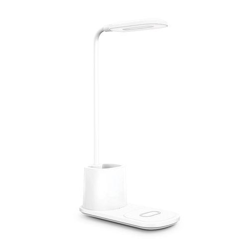 LAMPE DE BUREAU AVEC CHARGEUR INDUCTION 10 W ET POT À CRAYON  personnalisé montpellier Paris Ile de France