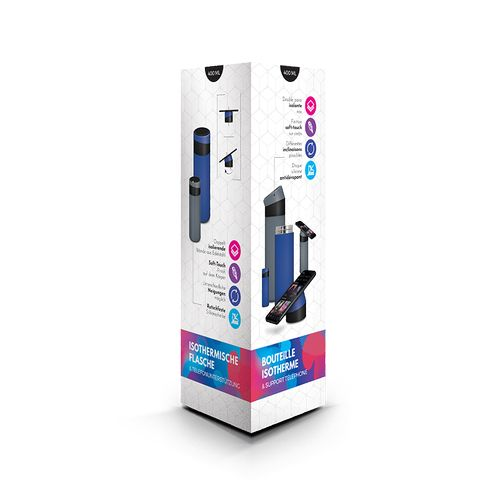 BOUTEILLE GOURDE ISOTHERME 40 cl & SUPPORT TÉLÉPHONE
