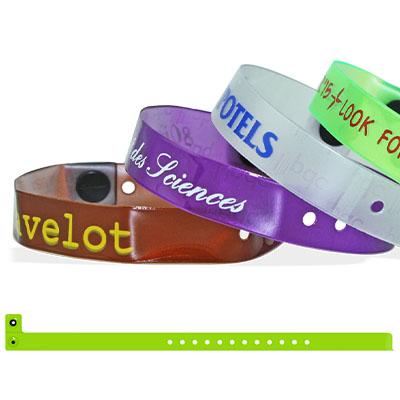 Bracelets en vinyle translucide, 13 mm, avec impression en 1 couleur