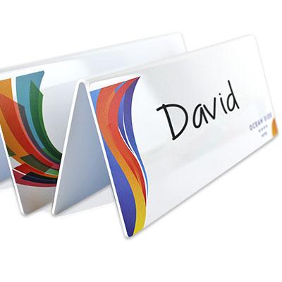 Chevalet personnalisé avec surface tableau blanc réinscriptible