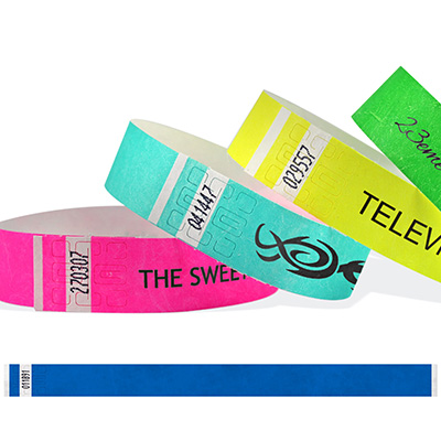 Bracelets en Tyvek 19 mm avec impression en noir