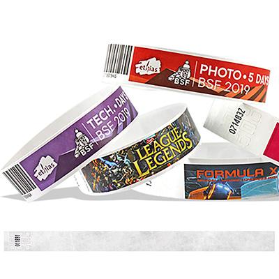 Bracelets en Tyvek 19 mm avec impression d'une image en couleurs