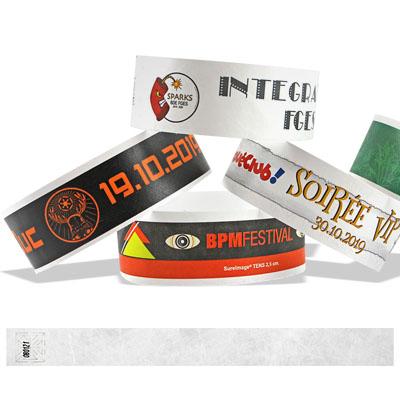 Bracelets en Tyvek 25 mm avec impression d'une image en couleurs