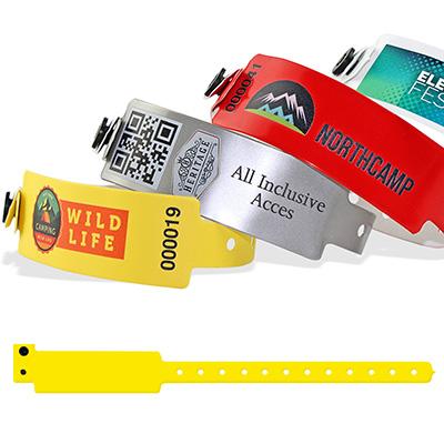 Bracelets en vinyle, 25 mm avec impression quadricouleur