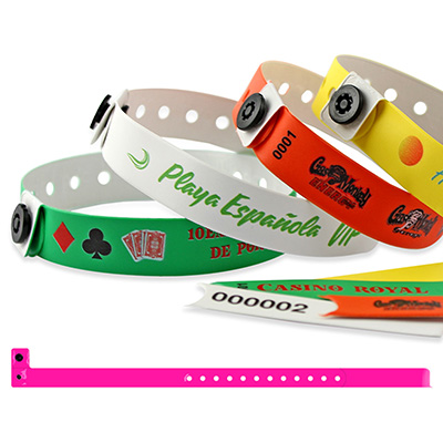Bracelets en vinyle, 13 mm avec impression quadricouleur