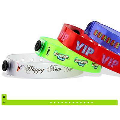 Bracelets en vinyle translucide, 13 mm, avec impression quadricouleur