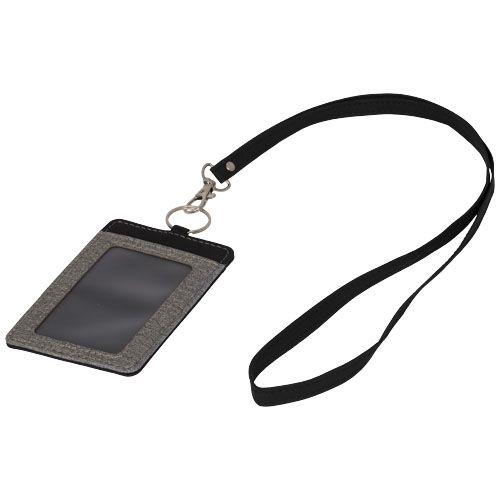 Porte-badge chiné avec lanière Eye-d