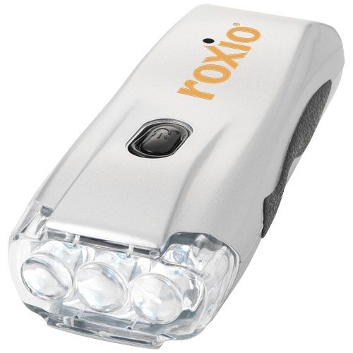 Lampe torche dynamo 3 LED Capella  personnalisé montpellier Paris Ile de France