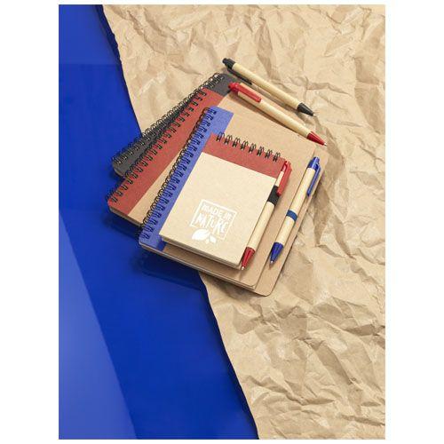 Bloc-notes recyclé format A7 avec stylo Zuse