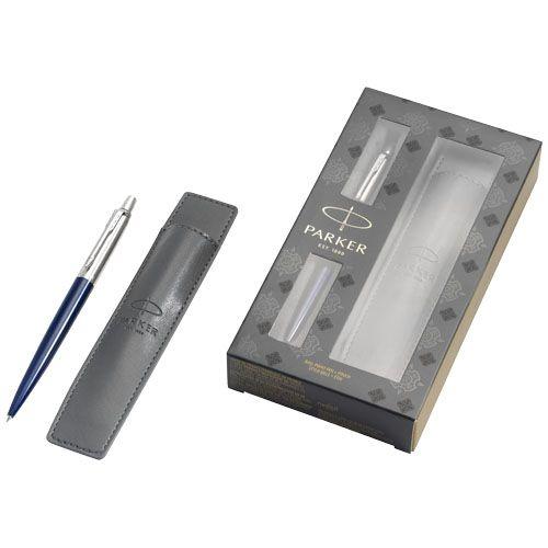 Parure cadeau bleu avec stylo et pochette Jotter Royal Blue