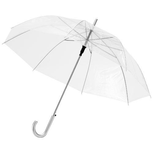 """23"""" Kate-sateenvarjo puukahvalla, läpinäkyvä, automaattisesti avautuva"""