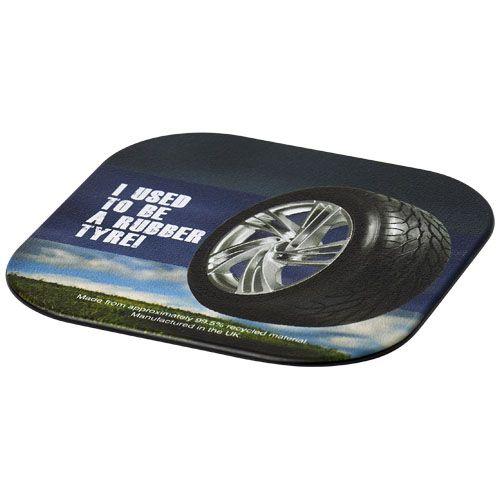 Brite-Mat® Posavasos cuadrado con material de neumático  Regalos Promocionales personalizados para Empresas